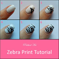 Zebra nail designs step by step - how you can do it at home ...
