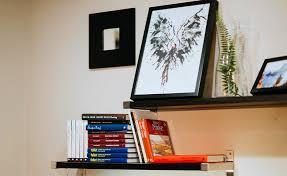 hanging shelves on plaster walls