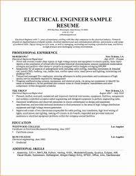 Electrical Engineer Resumes Electric Engineer Professional Resume