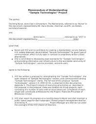 Letter Of Understanding Template Word Memorandum Of Understanding Template Word Beautiful Awesome