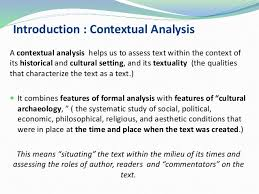 context introduction to contextual analysis revision version how to create a contextual analysis for texts 2