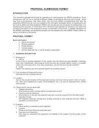 Sample Proposal Cover Letter Pohlazeniduse