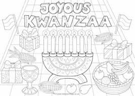 Small Picture Kwanzaa Colouring Pages