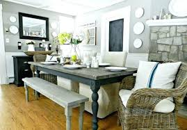 white bench dining room table ideas corner rustic with farm tables inspiring cool in style set