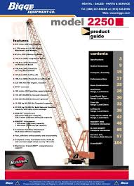 Manitowoc 2250 Load Chart Manitowoc 2250 Product Guide Cranes For Sale