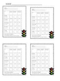 Printable Red Light Green Light Behavior Chart A Not So Wimpy Teachers Behavior Management Manual Primary