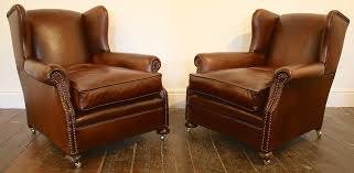 leather club chairs vintage. Wing Back Leather Club Chairs Vintage