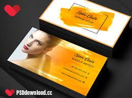 makeup artist business card attractive business card minimal business card free visiting card clean business card