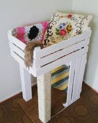 Diy cat playhouse Tunnels Build Cat Condo From Veggie Crates Cool Cat Tree Plans Free Cat Tree Plans Cool Cat Tree Plans