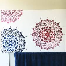 I Do Not Like This Painting Template How To Paint A Mandala Canvas With A Stencil The Crafty Mummy