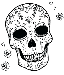 Skull Coloring Pages To Print Free Printable Sugar Skull Coloring
