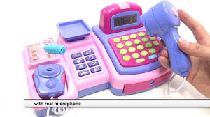 CASH REGISTER TOY FOR GIRLS WITH REAL CALCULATOR LCD DISPLAY AND MIC