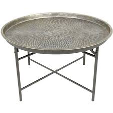 round metal coffee table liked on