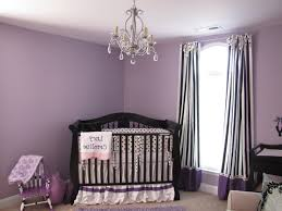 baby girl nursery ideas turquoise hanging chandelier white framed window white wooden crib white crib gray