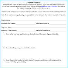 Recommendation Letter For Student Scholarship Scholarship Reference Recommendation Letters 7 Sample Letters