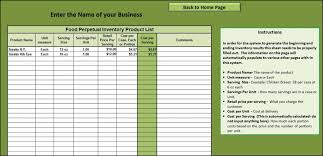 Example Of An Inventory Spreadsheet And Inventory Control Template