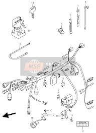 suzuki lt af quadmaster spare parts msp wiring harness