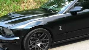 Satin Black 2005 Mustang GT (Shelby GT500 Clone) - YouTube