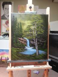 easy oil painting lesson deep woods