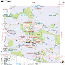 arizona map map of arizona az map