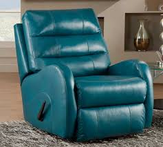 turquoise leather recliner
