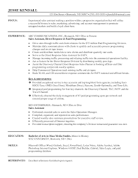 Fascinating Sales Assistant Objective Resume In Administrative