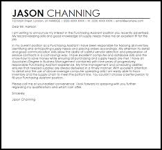 Purchasing Assistant Cover Letter Sample