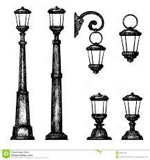 Drawing Street Light Sketch Of Street Light Stock Illustration Illustration Of