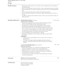 Resume Objective Banking Proyectoportal Com