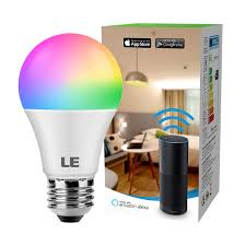 Led Light Bulbs Amazon Le Wifi Smart Light Bulb Works With Alexa Google Assistant Ifttt 2 4g Wifi Rgbcw And Cct 2700 6500k Tunable White Timer Color Changing