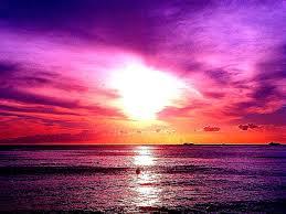 Purple Ocean Sunset Ha W Aii Sunsets Hd Wallpapers