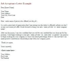 Job Offer Acceptance Email Letter From Employer Example Subject ...