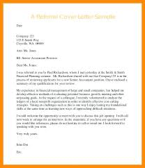 cover letter examples with referral sample referral cover letter cover letter referred by by reference