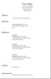 Free Printable Blank Resume Forms - http://www.resumecareer.info/