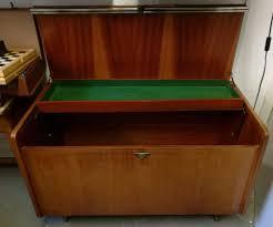 Lockable Bedroom Furniture Large Vintage Mid Century Teak Blanket Box Toy Box Crate Trunk