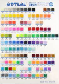 Bead Color Chart Us 276 0 Artkal Beads 94 Solid Colors Set Soft Perler Beads R 5mm 1000pcs Bag Funny Educational Toys Rb1000 Fs In Beads Toys From Toys Hobbies On
