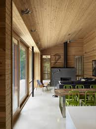 Contemporary Cabins Ultra Modern Cabin Blends Rustic Warmth With Modern Minimalism