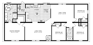 manufactured home floor plan the imperial model imp 46013b 4 bedrooms