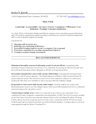 Sample Clerk Resumes Templates Memberpro Co Accounting R Sevte
