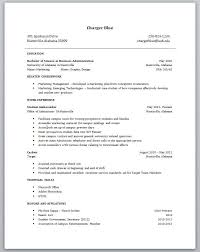 Sample Resume For College Student With No Experience Sample Resume within Resume  Student No Experience