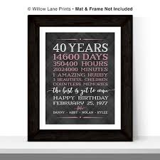 40th birthday gifts for women men birthday gift ideas for her him days hours minutes personalized gift for mom dad grandma