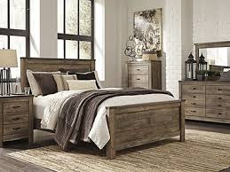 Queen bedroom sets with storage Costco Queen Bedroom Set Replicated Oak Grain Takes The Look Of Rustic Reclaimed Wood On This Queen Panel Bed The Modern Farmhouse Style Is At Home In The Pinterest Trinell 5pc Queen Bedroom Set Bedroom Pinterest Bedroom