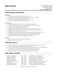 Senior Mortgage Loan Closer Resume Sample Vinodomia Entry Level