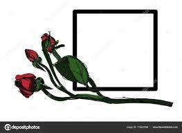 Vettore Piccole Rose Disegno Vettore Di Rosa Illustrazione