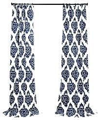 Navy Blue Patterned Curtains Interesting Navy And White Drapes Navy Blue Print Curtains Navy And White Drapes
