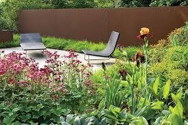 using corten steel garden design
