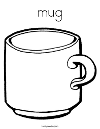 Mug Coloring Page Twisty Noodle