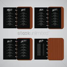 Restaurant Menu Book Design Restaurant Menu Design Set Vector Image 1705508