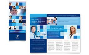 brochure template technology consulting it tri fold brochure template word publisher