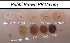Smashbox Bb Cream Light Medium Swatch Bobbi Brown Bb Cream Swatches Of Shades Bobbi Brown Bb